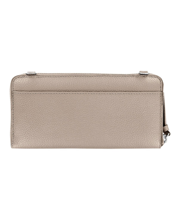 Brighton T3501Z Rox Large Zip Wallet Zinc