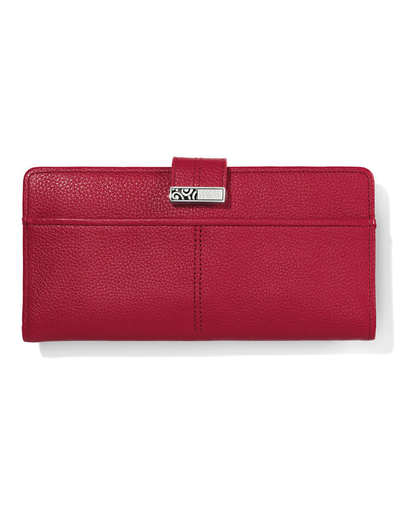 Brighton T35137 Barbados Large Pocket Wallet lipstick red leather wallet