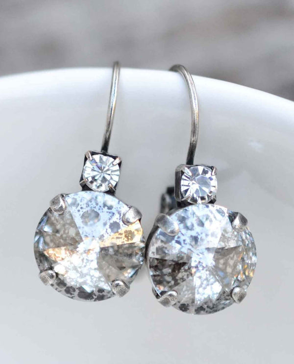 Silver Patina Brooke Earring BY RACHEL MARIE DESIGNS