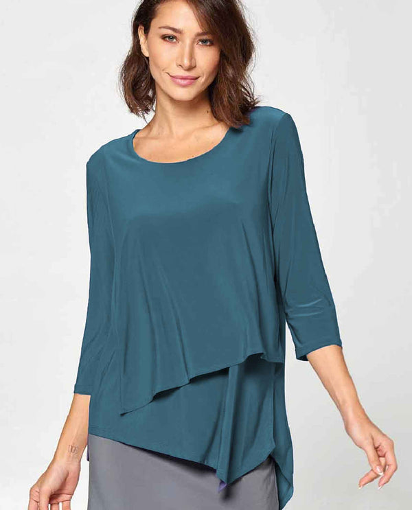 Teal By JJ IT126 Layer Front Tunic