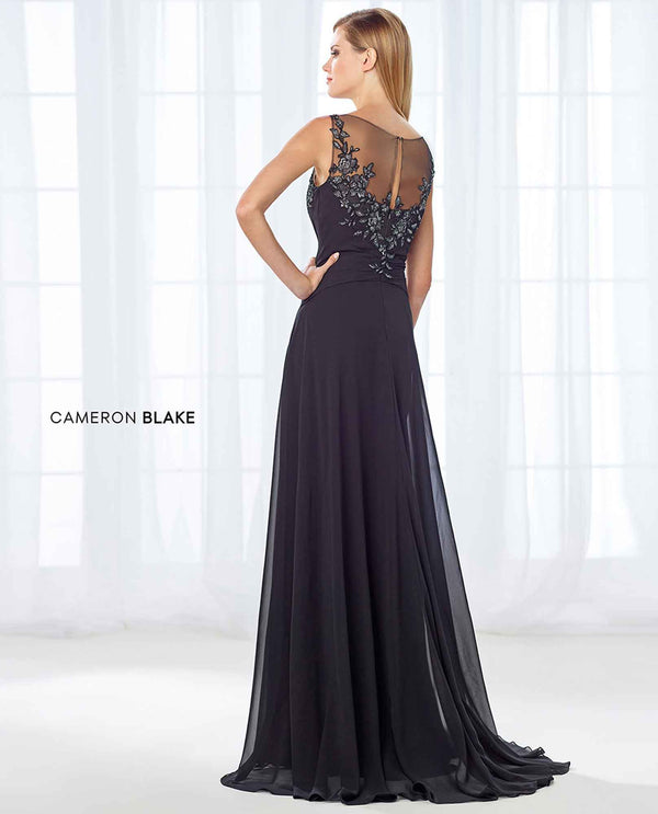 Cameron Blake 118680 Sleeveless Beaded Dress black sleeveless mother of the bride gown with beads