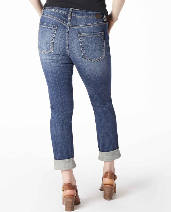 Medium Indigo Jag J2467457THBL Carter Girlfriend Jeans