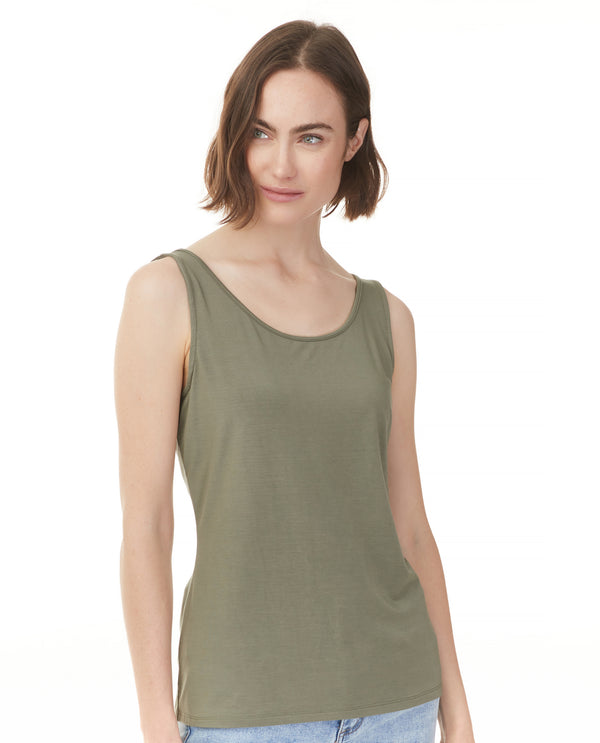 Charlie B 1243R Stretch Bamboo Tank Safari