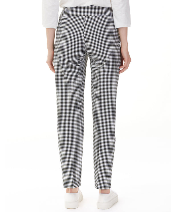 Charlie B C5126R-823A Gingham Ankle Pant Black & white
