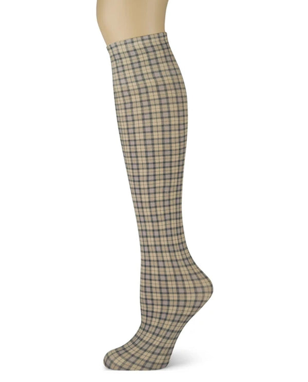 Sox Trot 6CIOWHT Check It Out Knee High