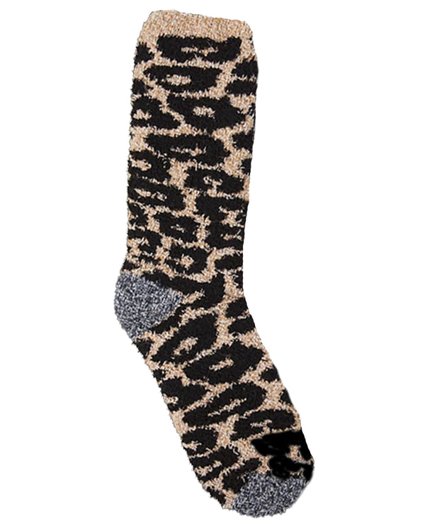 World's Softest Socks Cheetah Fireside Crew