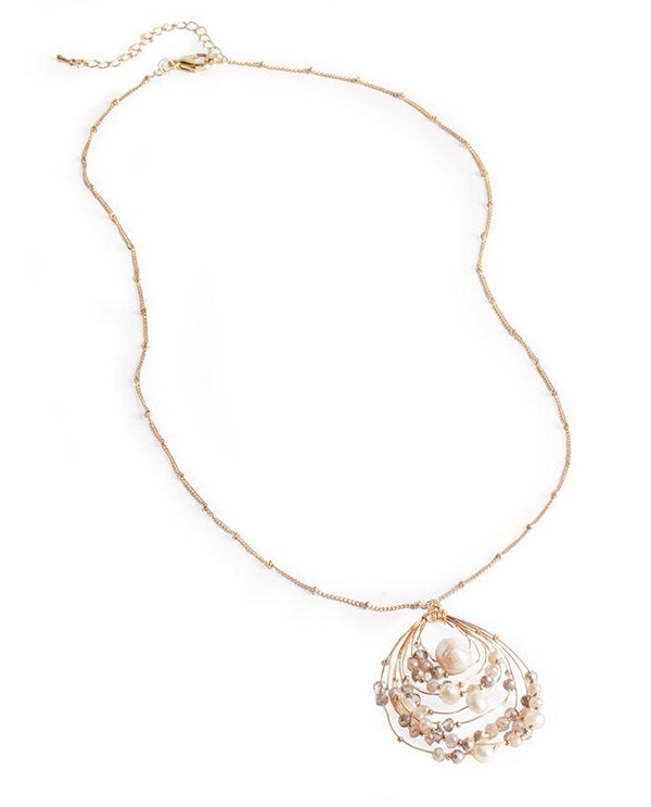 Coco & Carmen Sienna Pearl Necklace Gold