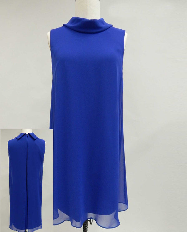 RBLU Connected Apparel T0033966 Roll Neck Sleeveless Dress