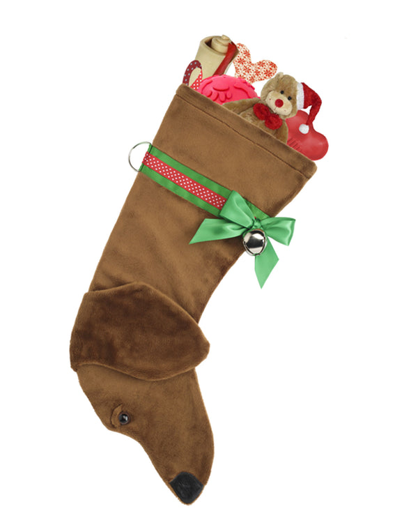 Hearth Hounds HH15 Tan Dachshund Stocking