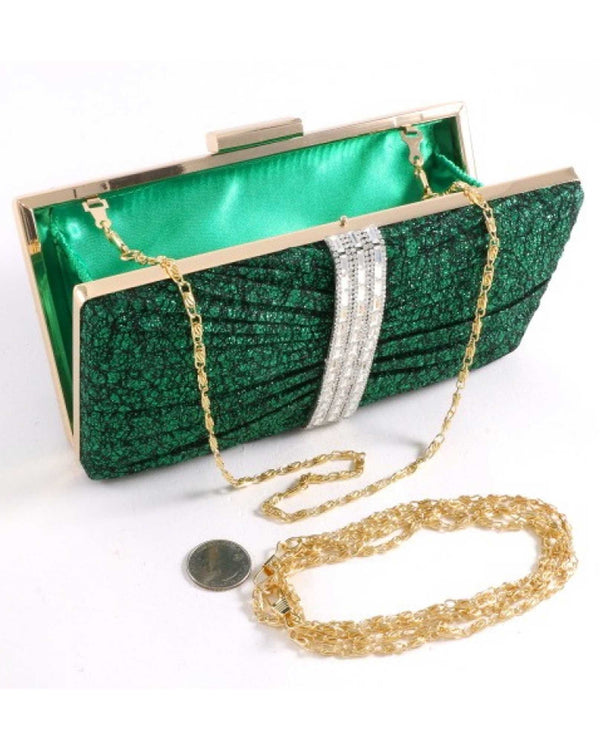 Embellished Evening Bag Green