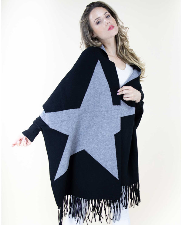FP63027 Sweater Shawl Star Pattern
