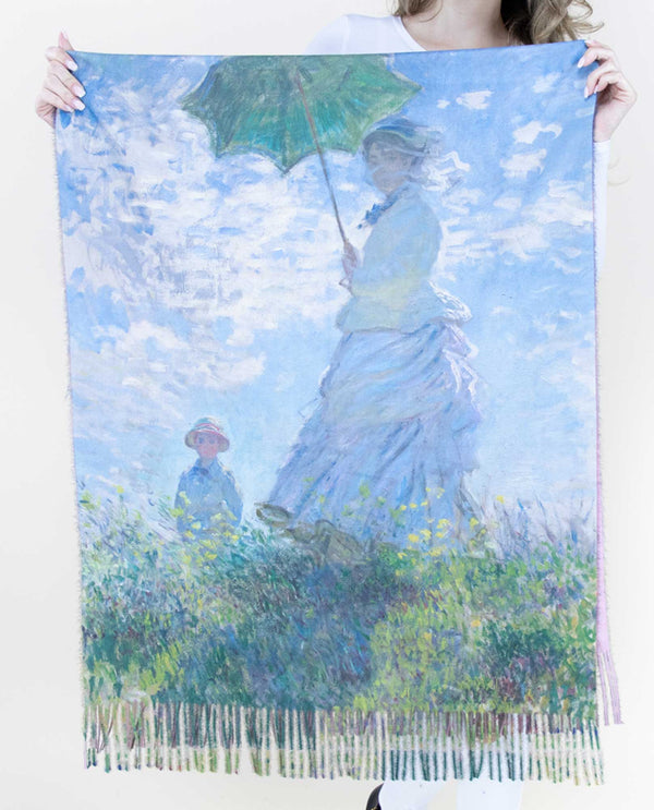 FS40502 Woman with Parasol Scarf