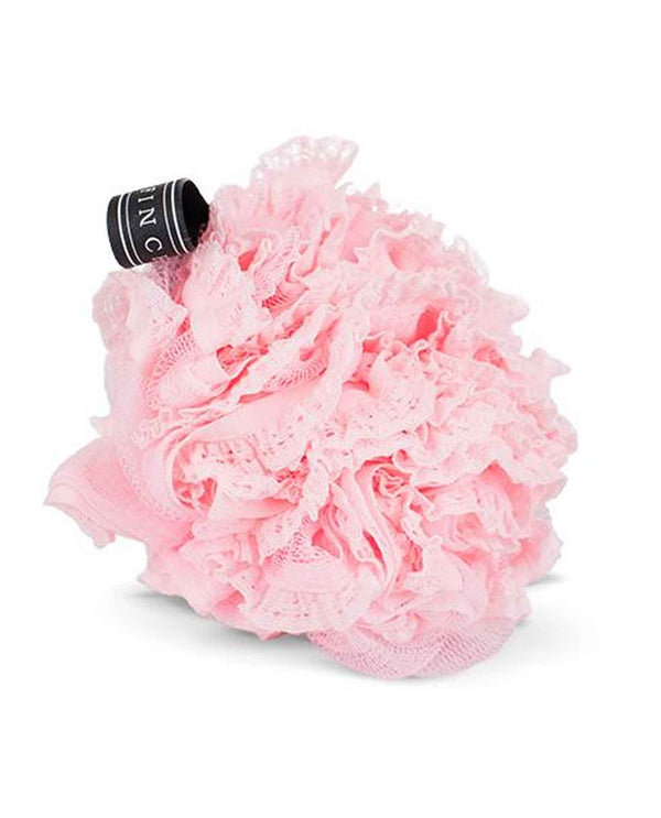 Pink FinchBerry Loofah Mesh Sponge extra fluffy loofah for the shower with hanging strap