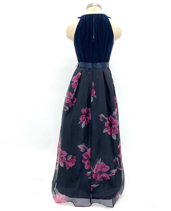 Multi Floral Print Hi-Lo Dress