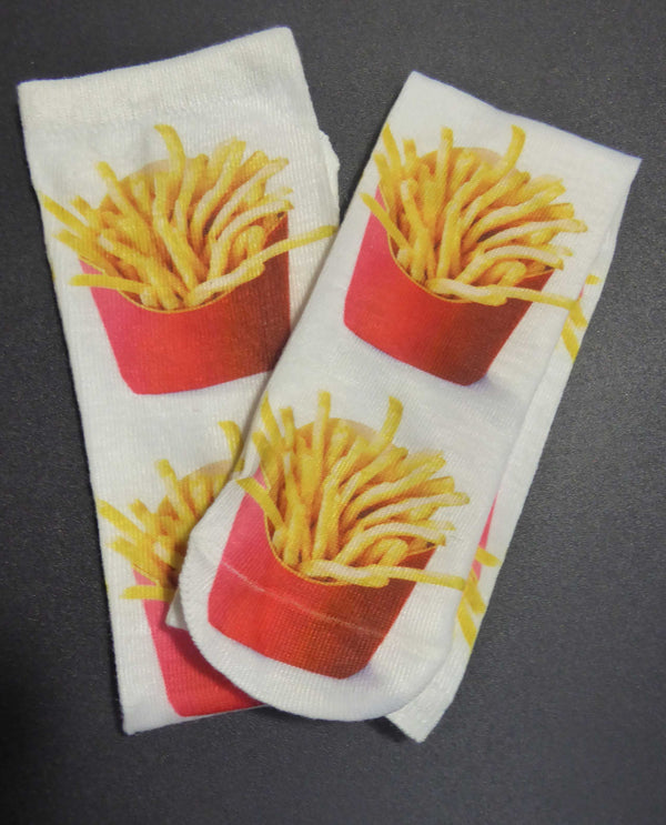 SX67 French Fries Knee Sox with fun french fries in containers for that foodie