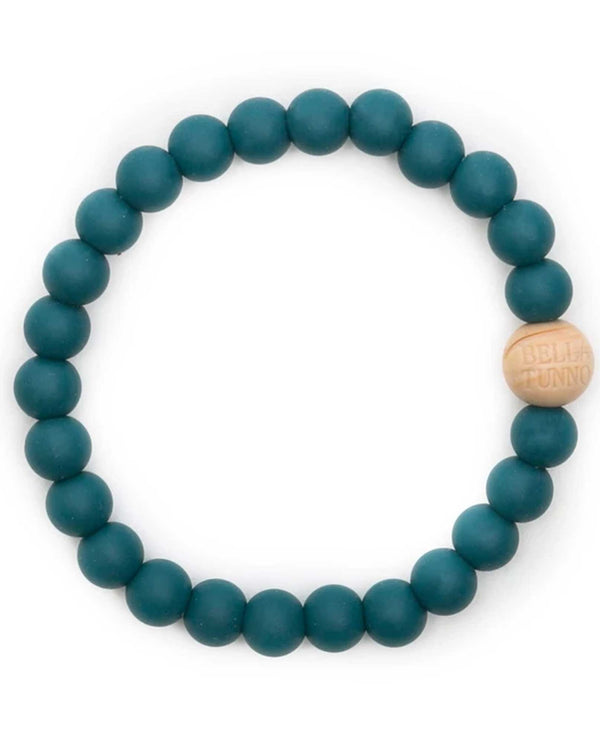 Bella Tunno GB60B Toby Bracelet teal silicone teething bracelet for mom