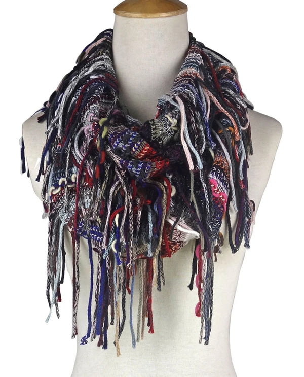 Giving Infinity Scarf with Fringe Multi