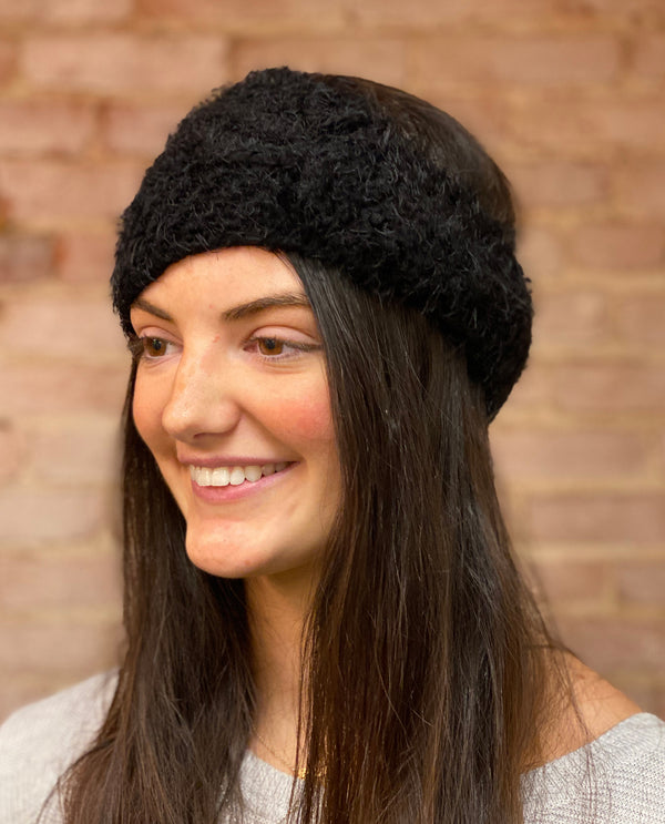 Fuzzy Headband black