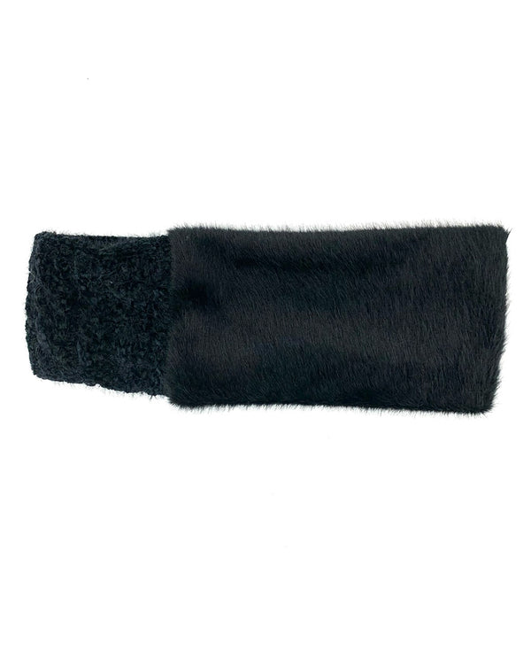Fur Chenile Headband black