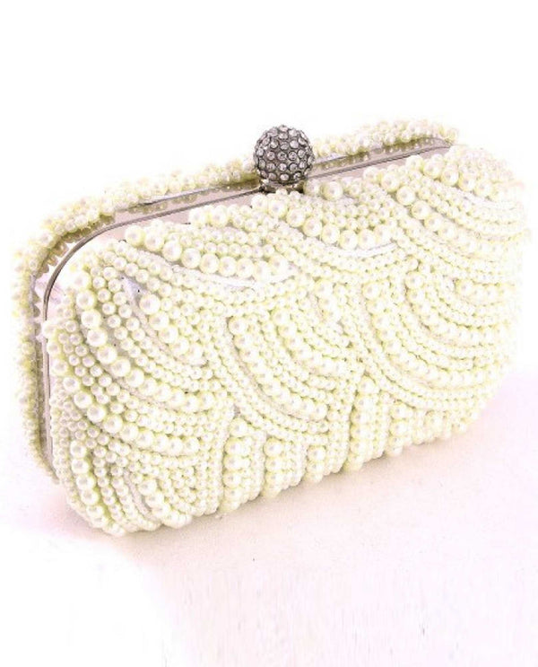 Ivory Pearl Evening Bag