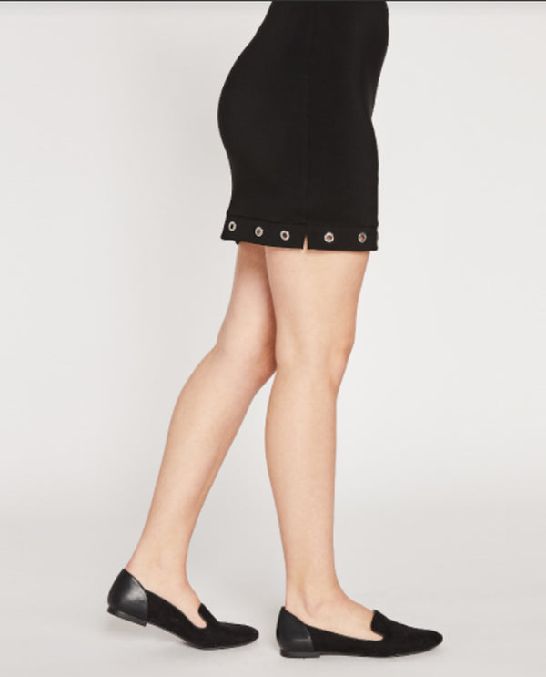Sympli 2679Y Halo Mini Skirt black