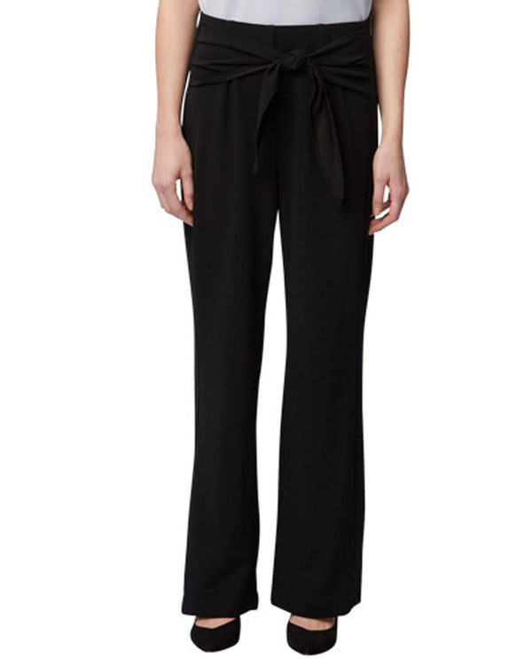 Harve Benard HM20WP242 Tied Waist Full Length Pants Black
