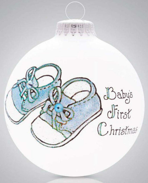 Heart Gifts by Teresa 2059 Baby Boy Booties Ornament baby boy first Christmas