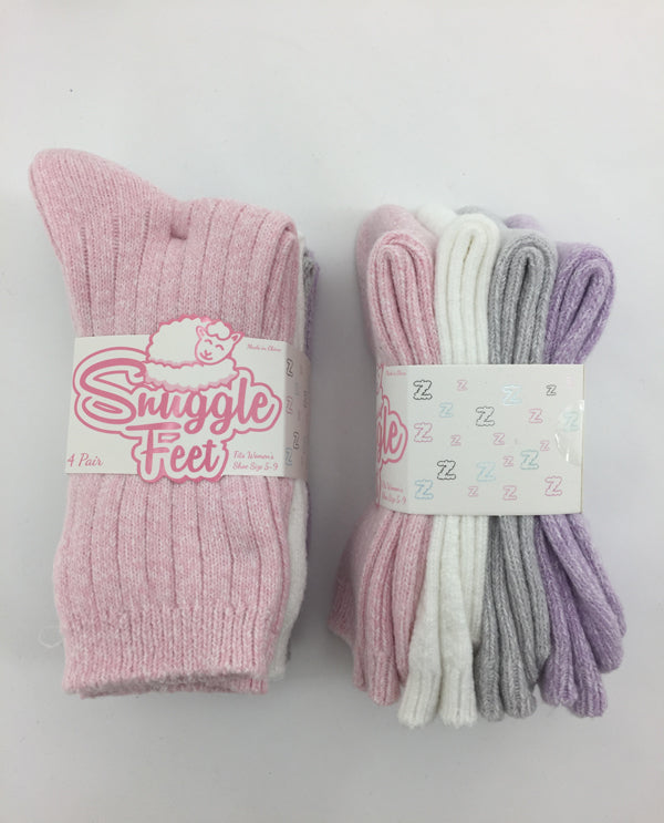 4 Pack Assorted Socks Pink