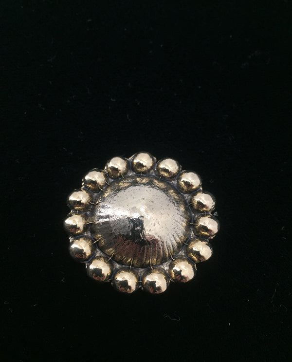 Dome Magnetic Brooch Gold