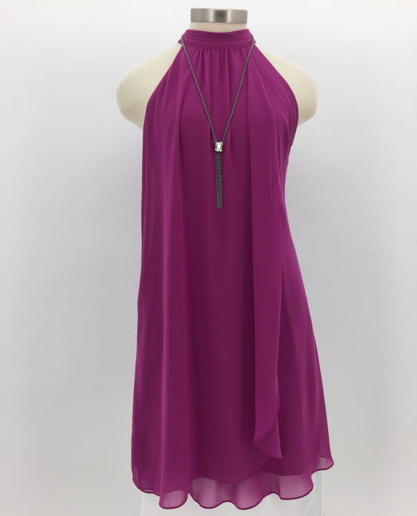 Berry Mock Neck Dress Front View