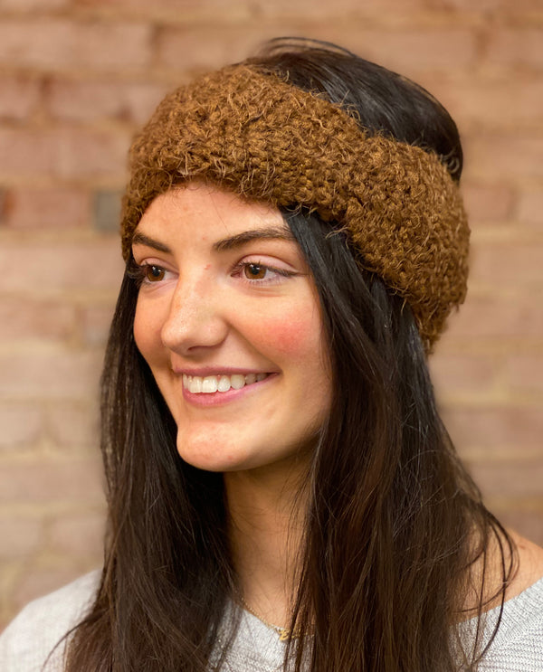 Fuzzy Headband brown