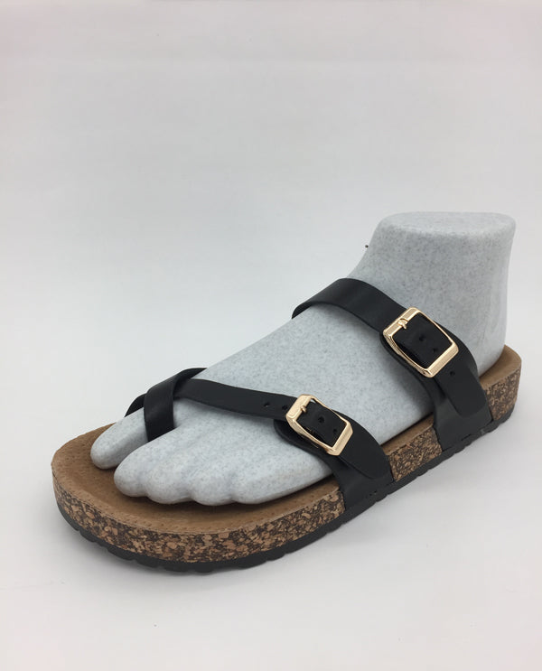 Black Sandal With Cork