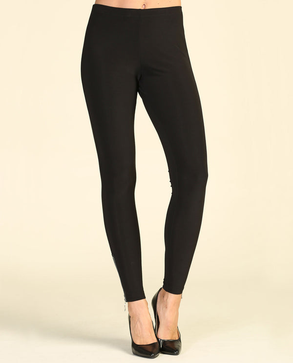Zipper Leggings Black