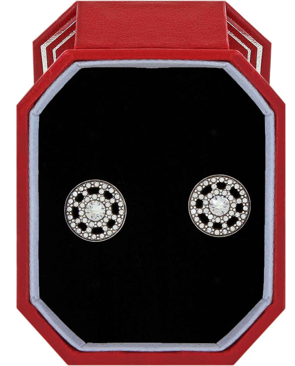 Brighton JD4481 Illumina Post Earrings Gift Box silver Swarovski crystal stud earrings
