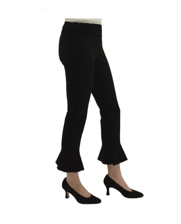 Insight BCP1826HVY Scuba Kick Flare Pants in black have a flared ankle and elastic waistband