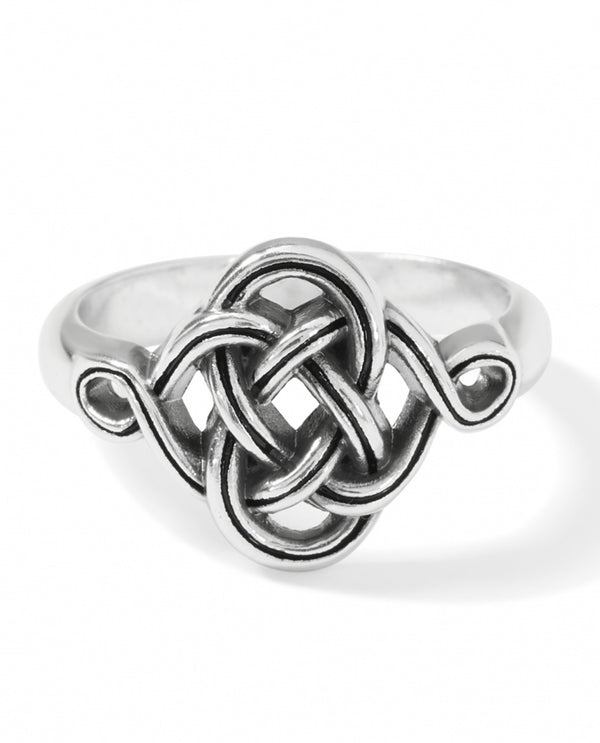 Brighton J62850 Interlok Knot Ring Silver