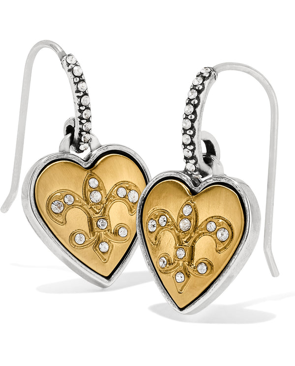 Brighton JA6652 One Heart French Wire Earrings
