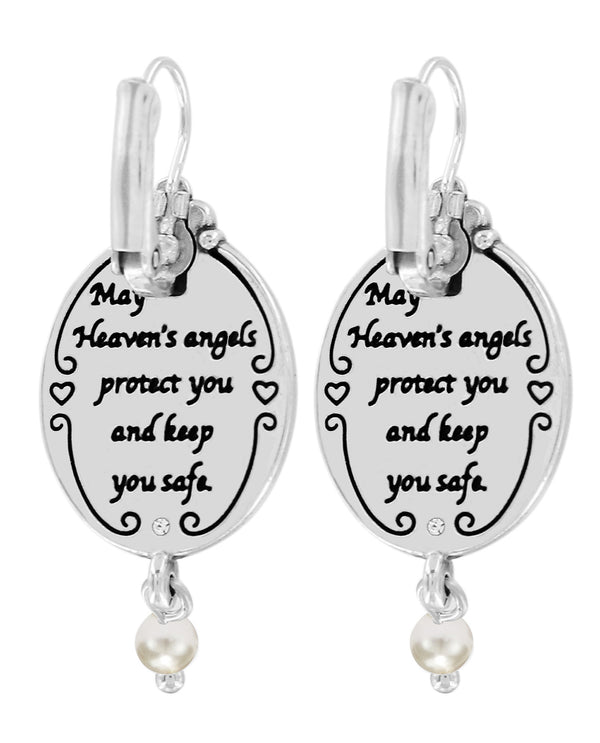 Brighton JA6680 Guardian Angel Leverback Earrings