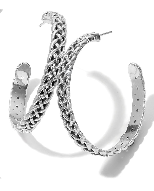 Brighton JA7050 Interlok Braid Large Hoop Earrings