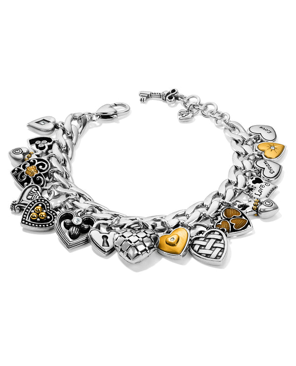 Brighton JF7592 One Heart Charm Bracelet