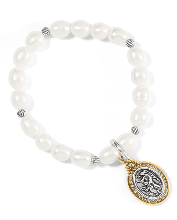 Brighton JF8013 Guardian Angle Stretch Bracelet Pearl