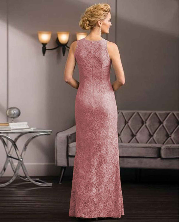 Rose Jade Couture K188058 Bejeweled Neck Dress pink floor length mother of the bride gown