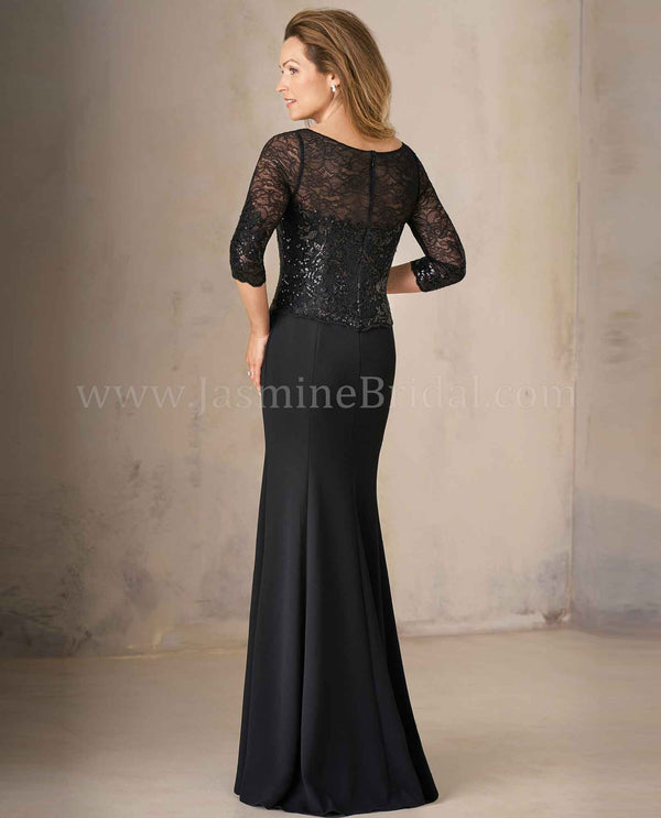 Black Jade Couture K208005 Sequin Lace Stretch Crepe MOB dress
