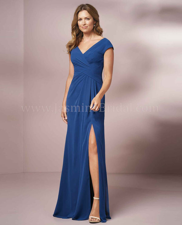 NSPH Jade Jasmine J205001 Gather Bodice Dress with slit above the knee