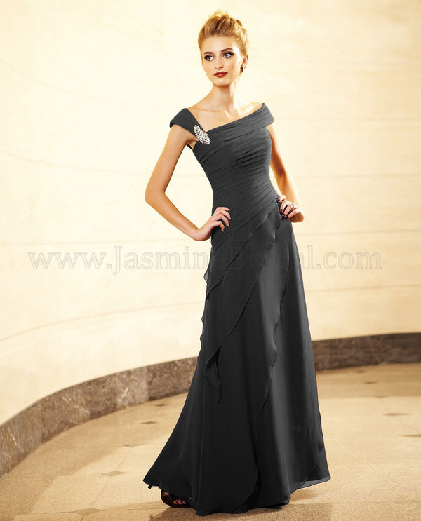 Jade Jasmine J4425 One Shoulder Gown Onyx