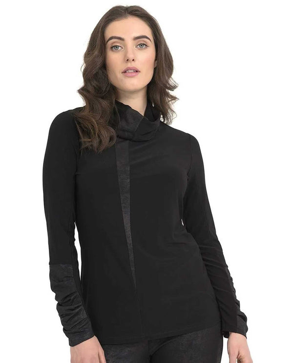 Joseph Ribkoff 194125 Long Sleeve Cowl Neck Black