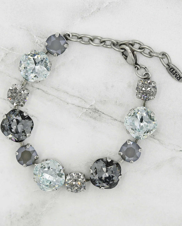 Cushion Cut Chaton Bracelet by Rachel Marie Designs features elegant Swarovski crystals in 2 sizes