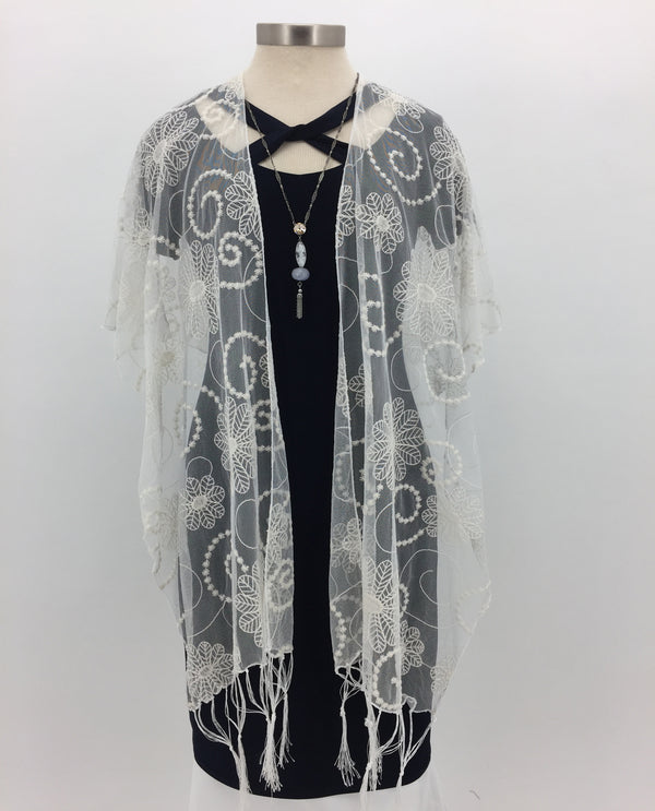 Ivory Lace Cape