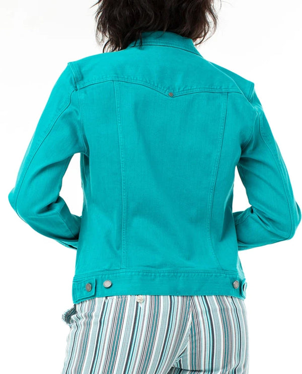Turquoise Liverpool Jeans LM1490WF Jean Jacket High Performance Denim