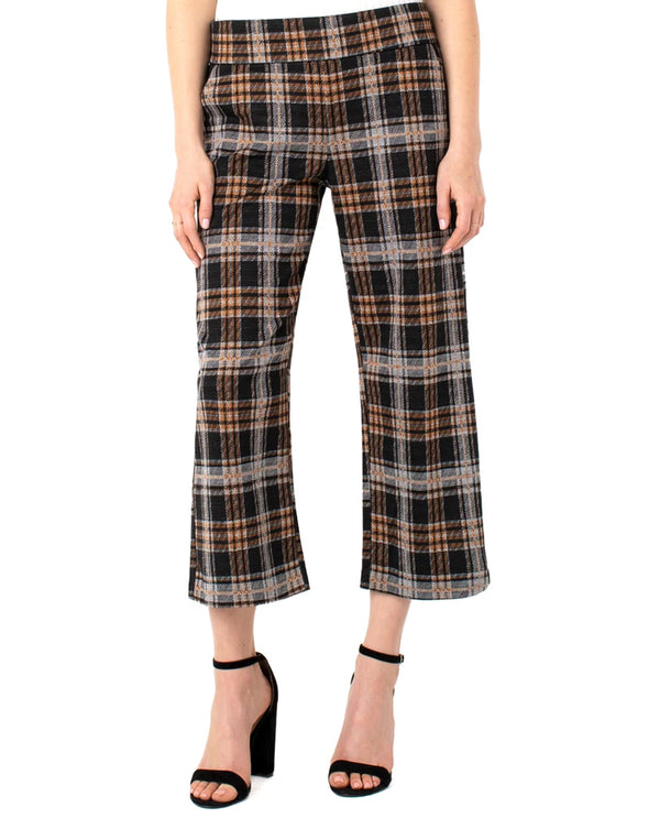 Liverpool Jeans LM4413CM49 Mabel Plaid  Wide Leg Pull On